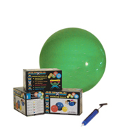 CanDo Inflatable Exercise Balls w/ Pump-Retail Box