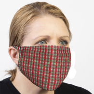 Celeste Stein Ear Loop Mask-Christmas Check