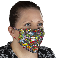 Celeste Stein Ear Loop Mask-Christmas Celebration