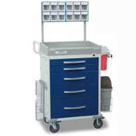 Detecto Rescue Anesthesiology Medical Carts-Blue