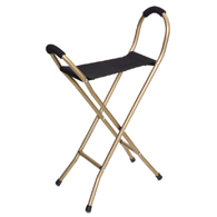 Essential Medical Supply W1451 Endurance Folding Seat Cane-4 Legged